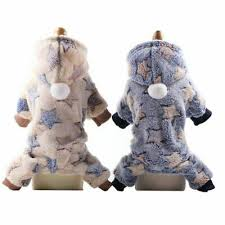 <b>Soft</b> Fleece Dog Jumpsuit <b>Winter Dog Clothes</b> Small Puppy Coat Pet ...
