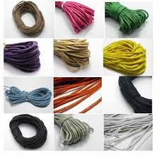 <b>10 meter</b> diy material PU Leather Chain <b>4MM</b> bracelet necklace cord ...