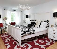 red wall paint black bed: fantastic red black and white bedroom paint ideas  for designing home inspiration with red black