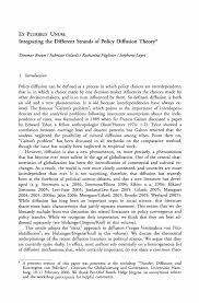 ex pluribus unum integrating the different strands of policy diffusion und konvergenz von politiken
