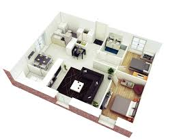 Bedroom House Plans In Ghana By Ghanaian Architects     More Bedroom d Floor Plans   home decor websites  rustic home decor