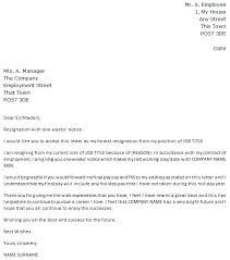 week notice resignation letter   icover org uk week notice resignation letter