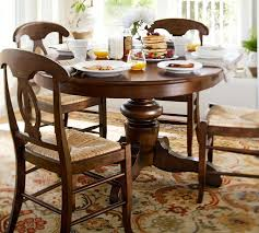 barn kitchen table tivoli extending pedestal table amp napoleon chair  piece dining set pottery barn