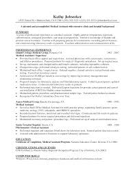 medical assistant sample resumes anuvrat info medical assistant resume samples assistant cover letter sample