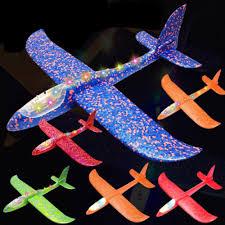 <b>48cm</b> Big <b>Good quality</b> LED Hand Launch Throwing Airplane Glider ...