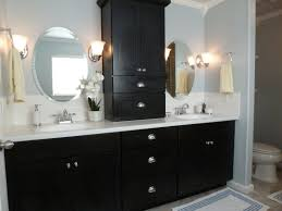 open bathroom vanity cabinet: black high gloss finish wooden bath vanity with drawers and open bathroom faucets bathroom wallpaper