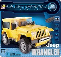 Желтый Jeep Wrangler с электродвигателем ... - Конструктор COBI
