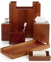 deals orange bathroom accessories: hotel collection teak wood bath accessories only at macys