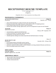 receptionist resume best receptionist resume samples receptionist resume template