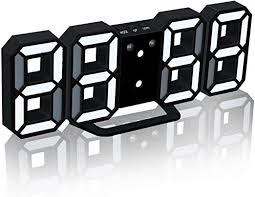 Home, Furniture & DIY Large <b>3D LED Wall Clock</b> Alarm Clock ...