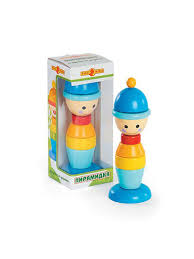 <b>Игрушка деревянная</b> - Пирамидка Мальчик <b>Папа Карло</b> 7504824 ...