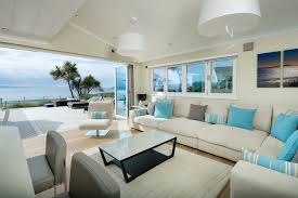 beach house decorating living room beach style with folding doors coastal home beach style living room furniture