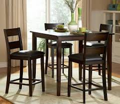 dining room tables chairs square: dining room square tall kitchen table with seating for  and decorative green vase