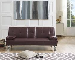 Naomi Home Futon <b>Sofa Bed with Armrest</b>, Multiple Colors ...