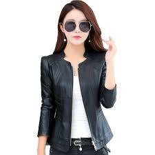 <b>Women Leather</b> Jacket 2019 Spring Autumn New Fashion <b>Short</b> ...