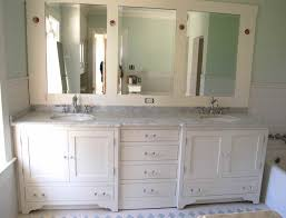 cabinet bathroom mirror replacement triple mirrored corner