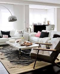 contemporary living room with zebra rug chic zebra print rug