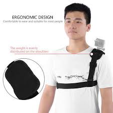 <b>Shoulder Strap Mount</b> Harness For Action Camera Hero 4 Xiaomi Yi ...