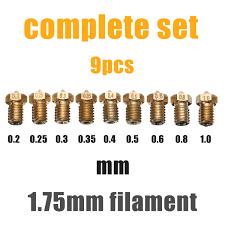 <b>Mayitr</b> 9pcs 1.75mm Filament Extruder Nozzle <b>3D</b> Printer ...