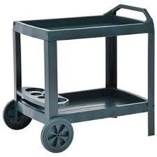 """Shop vidaXL <b>Beverage Cart Green</b> 27.2""""x20.9""""x28.3"""" Plastic ..."""