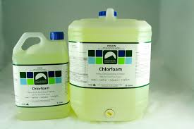 chlorfoam® cleaning sanitiser degreaser mountain cleaning products a double action formula that breaks down dirt fat grime and proteins and kills residual bacteria and mould ideal for food preparation areas