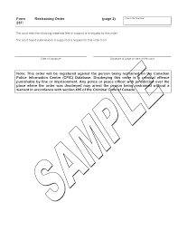 restraining order ministry of the attorney general sample form 25f restraining order