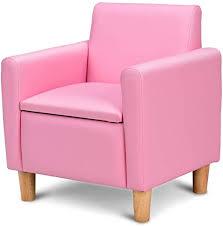 Children Kids Sofa Set Pink Leather Upholstered <b>Armchair Tub</b> ...