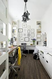 view in gallery black and white office design