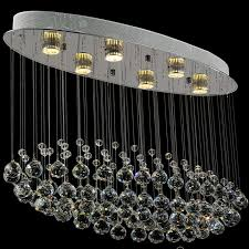 rectangular contemporary chrome crystal chandelier for living room dining room stair lights fixture rain drop pending banner5 stair lighting