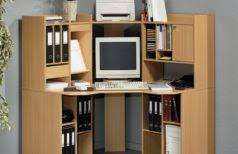 furniture small corner desk with storage minimalist brown stained hardwood simple computer design glossy black glass black glass top corner