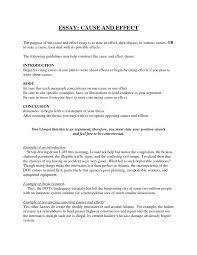 example of cause and effect essay cover letter cause and effect essay examples cause and effect