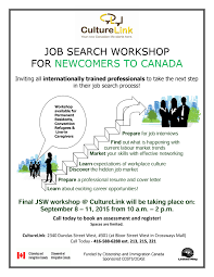 job search workshop sep culturelink the job search workshop will help you develop the skills you need to employment in in this 4 day workshop you will