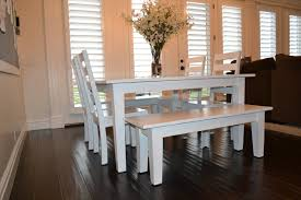 long wood dining table: white heavy glossy kitchen table combine chairs also bench large square wooden dining table middle