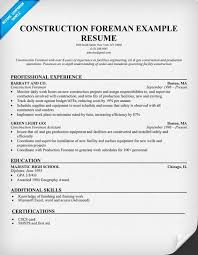 construction foreman sample resume  resumecompanion com    resume    construction foreman sample resume  resumecompanion com    resume samples across all industries   pinterest   resume  construction and resume examples