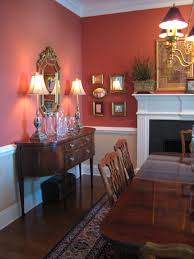 red paint traditional living room  devine paint traditional dining room by designfollycom