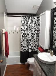 bathroom design shower curtain  rms smwagne black white red modern bathroom sxjpgrendhgtvcom