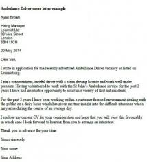 Ambulance Driver Cover Letter Example   Learnist org Learnist org