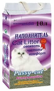 <b>Комкующийся</b> наполнитель <b>Pussy</b>-<b>Cat</b> 10 л — купить по выгодной ...