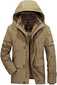 K3K Men's <b>Winter</b> Hooded <b>Plus</b> Velvet Lined 100% <b>Cotton Casual</b> ...