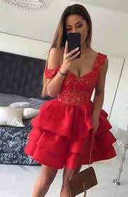 Sexy <b>Hot Red</b> Homecoming Dresses 2019 A Line Sexy <b>V Neck</b> With ...