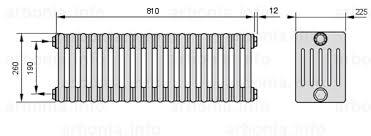 <b>Радиатор ARBONIA 6026</b>/18 №12 цвет белый глянец (RAL-9016 ...