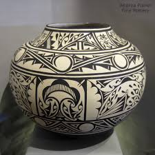 southwest american indian pottery andrea fisher fine joseph latoma san felipe large black and white olla bedroom homes sharp geometric decor