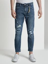 <b>Cropped Conroy jeans</b> with destroy details - from TOM TAILOR <b>Denim</b>