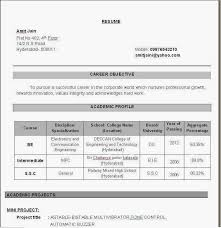 MCA Fresher CV Format Free Download Brefash