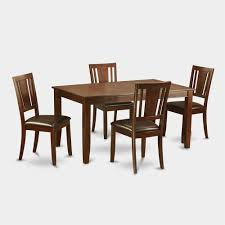quality small dining table designs furniture dut: east west furniture dudley dining set with faux leather seat chairs