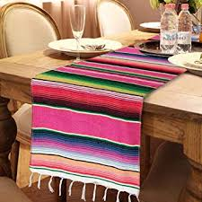 OurWarm Mexican Table Runner with Tassels 14in x ... - Amazon.com
