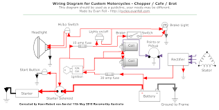 harley davidson points ignition wiring diagram harley custom wiring cafe racer