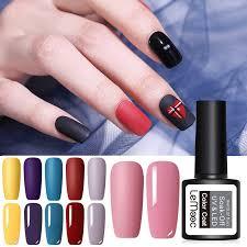 <b>LEMOOC 8ml</b> Matte Top Coat <b>Color</b> UV Gel Nail Polish Pink Blue ...