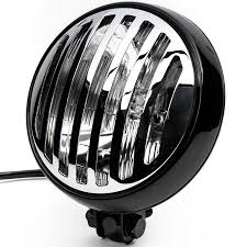 "Krator 6"" Black & <b>Chrome</b> Motorcycle Headlight with Grill High Low ..."