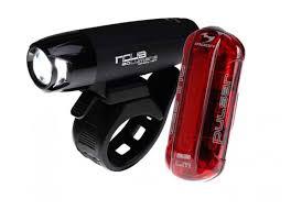 Комплект велосипедных фонарей <b>Moon</b> Nova и <b>Pulsar</b> красный ...